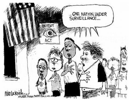government surveillance creates an orwellian society essay